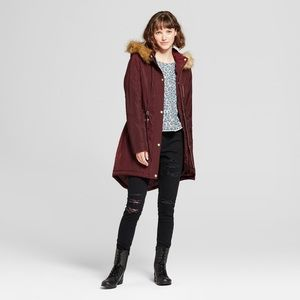 Women's Parka with removable Faux Fur Hood